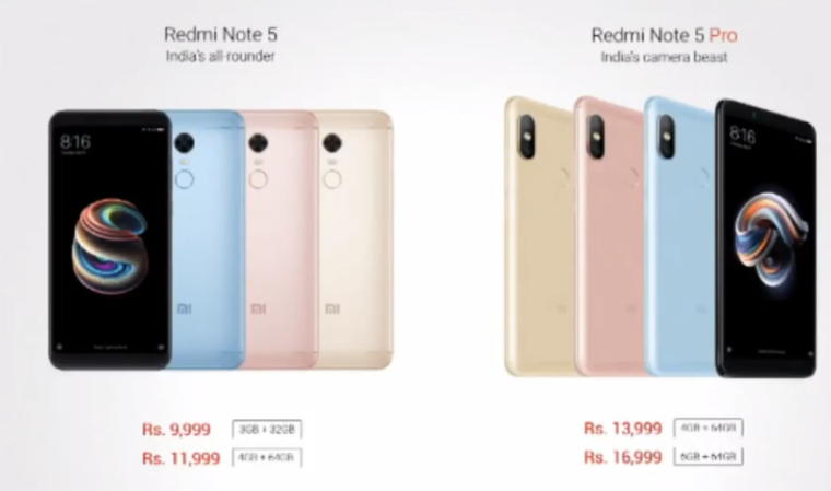 Redmi Note 5 pro and note 5