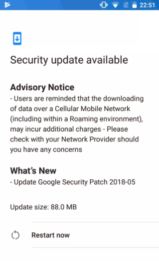 Nokia 2 May android security patch